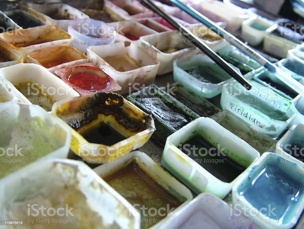Artist's supplies royalty-free stock photo