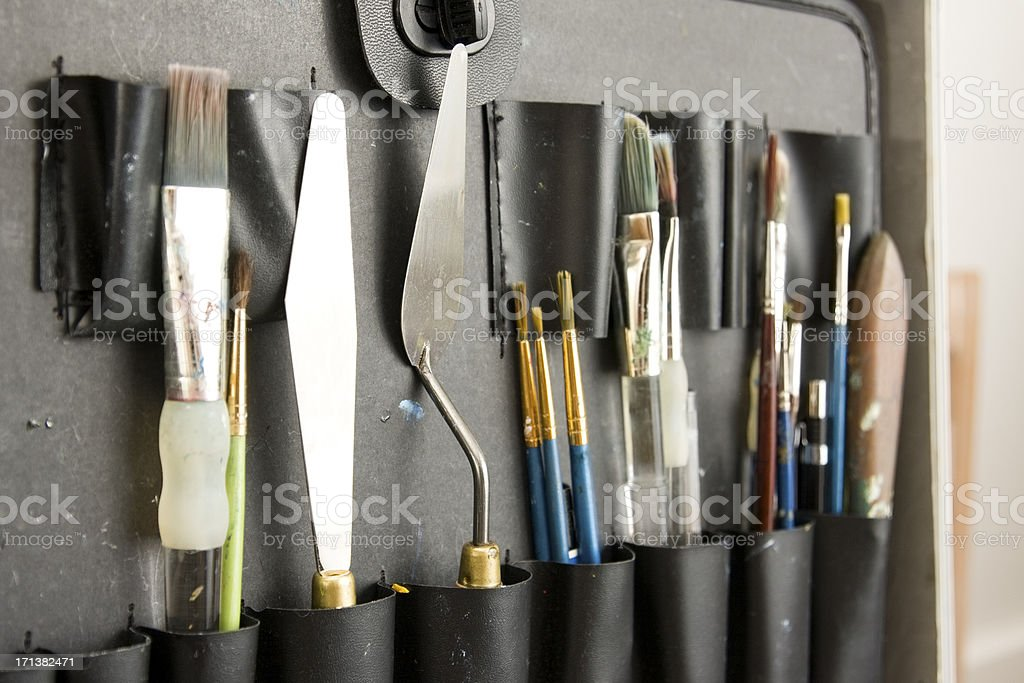 Artists Tools royalty-free stock photo