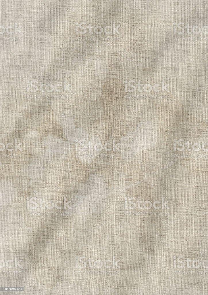 Artist's Unprimed Linen Duck Canvas Crumpled Mottled Grunge Texture royalty-free stock photo
