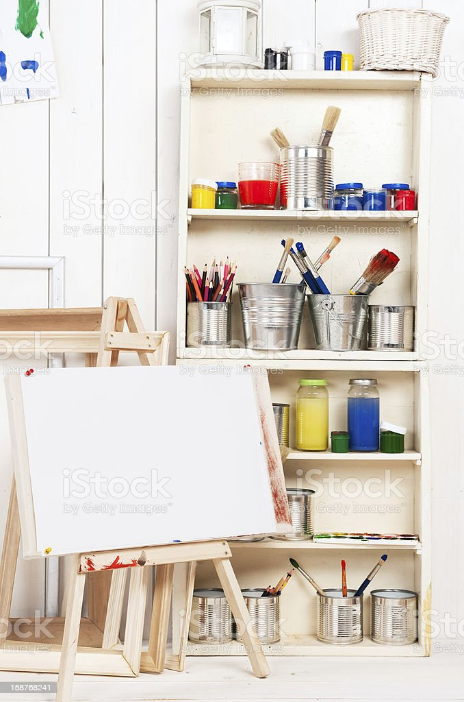Artist's workshop royalty-free stock photo