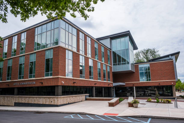 Arts and Administration Building at Bloomsburg University stock photo