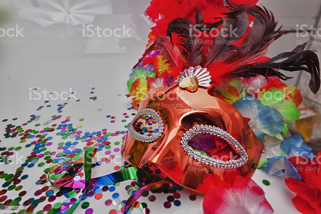 Arts and crafts carnival mask  royalty-free stock photo