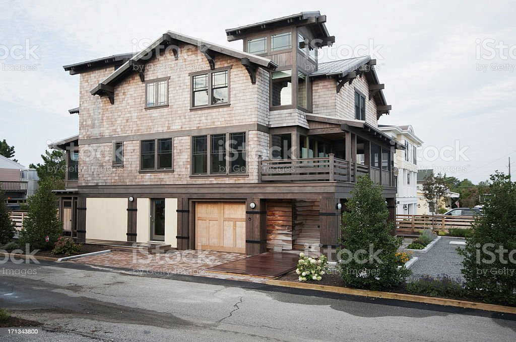 Arts and Crafts or Prairie School Home Exterior stock photo
