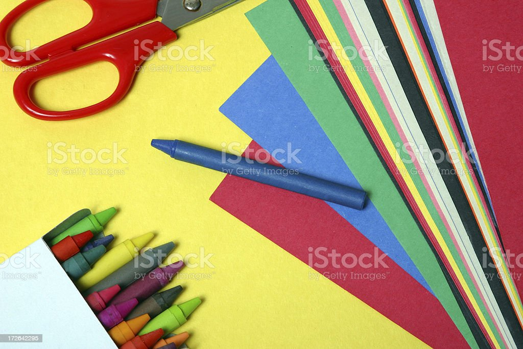 Arts and Crafts Supplies stock photo