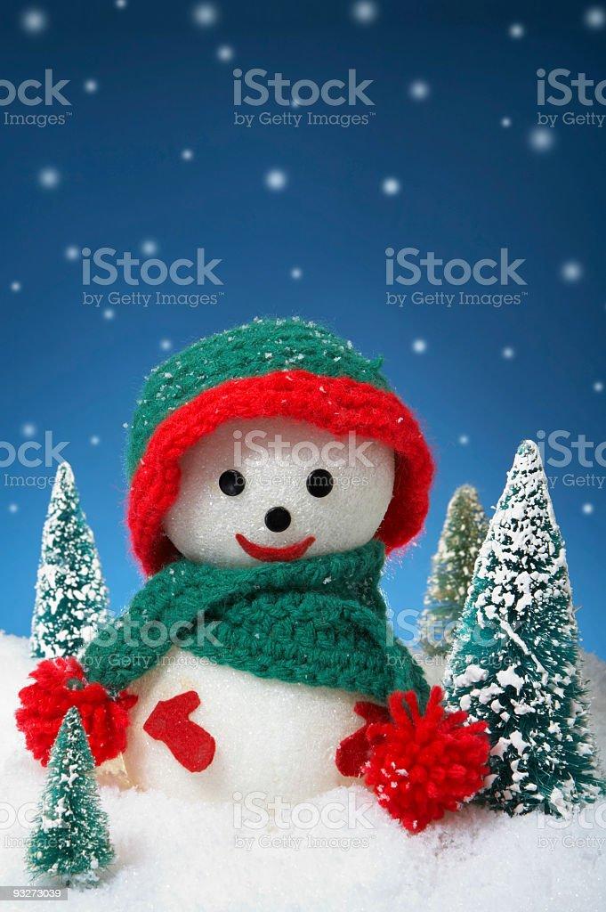 Arts & Crafts Snowman royalty-free stock photo