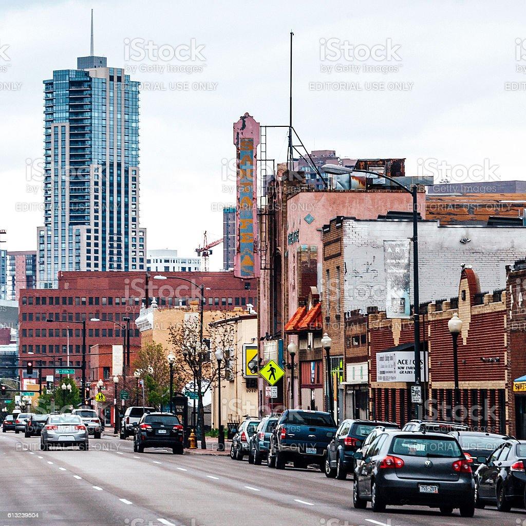 Arts District on Santa Fe. Denver, Colorado. stock photo