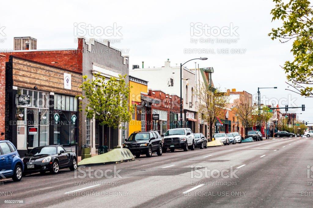 Arts District on Santa Fe - Denver, Colorado stock photo