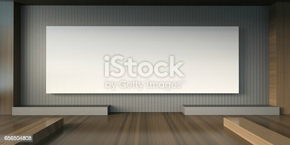 istock Arts Gallery studio and Exhibition Minimal chair and white Pictures 656504808