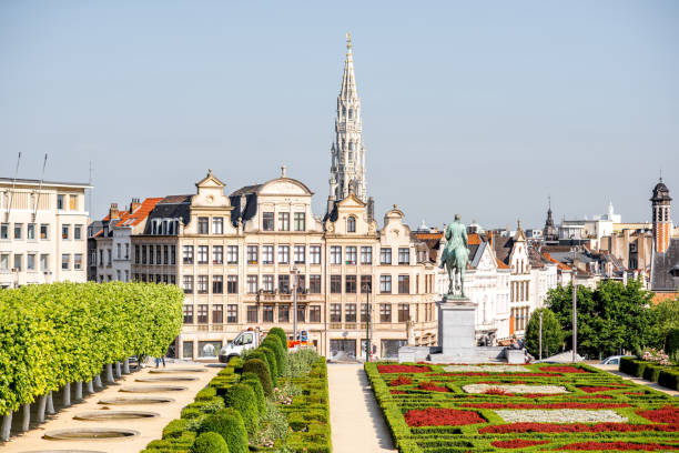 Arts Mountain square in Brussels - foto stock