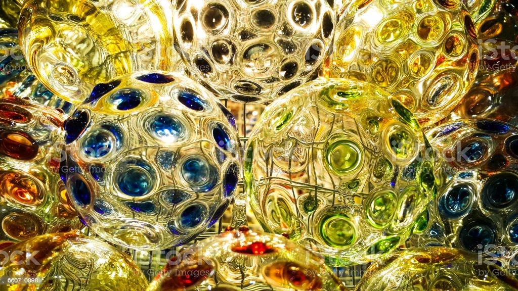 Arts of colorful glass ball - foto de acervo