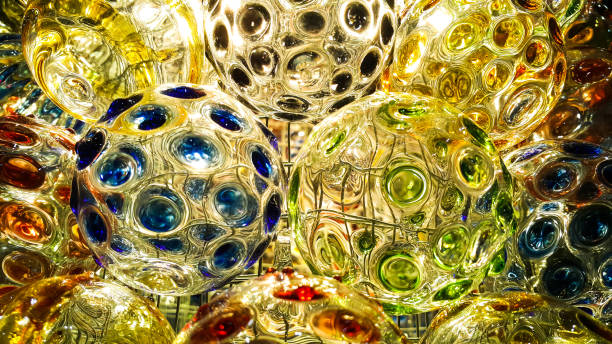Arts of colorful glass ball – Foto