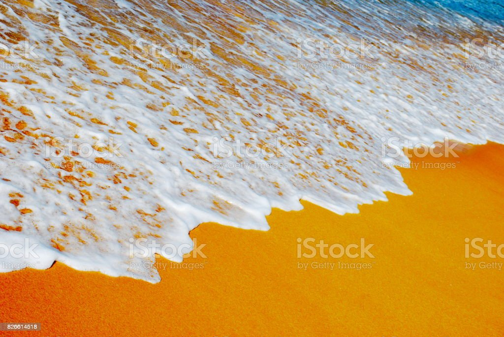 Art-Style Abstract Sea and Sand stock photo
