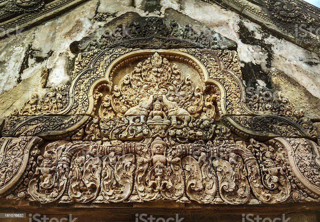 Artwork - Angkor Wat, Cambodia royalty-free stock photo