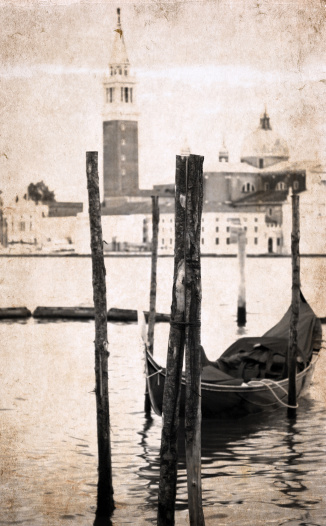 istock artwork  in retro style,  Venice 183104599