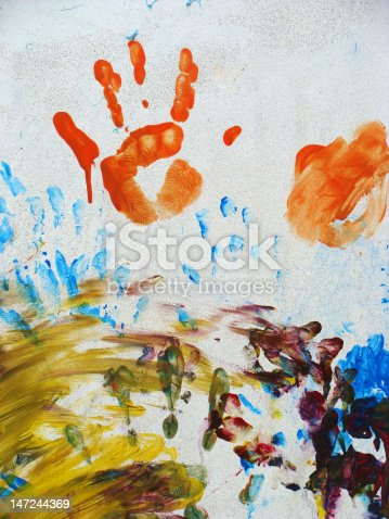 istock artwork of children fingerpainting on a wall 147244369