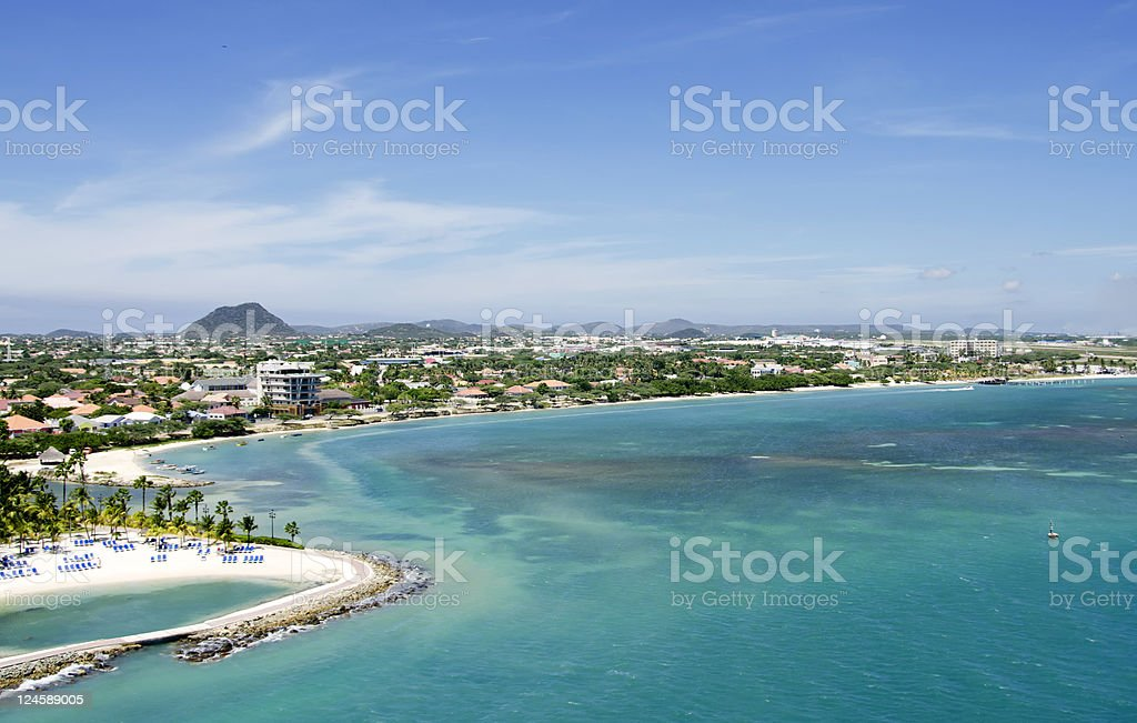 Aruba aerial view royalty-free stock photo