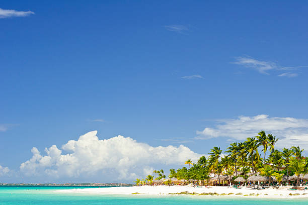 aruba beach - aruba stockfoto's en -beelden
