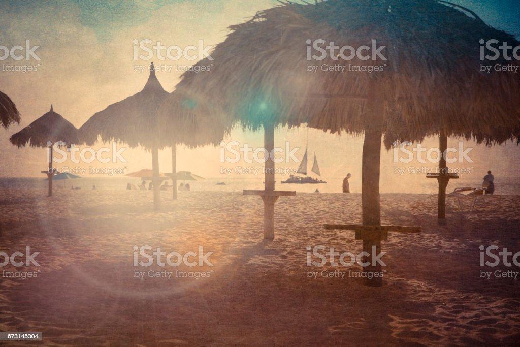 Aruba Beach Textured stock photo