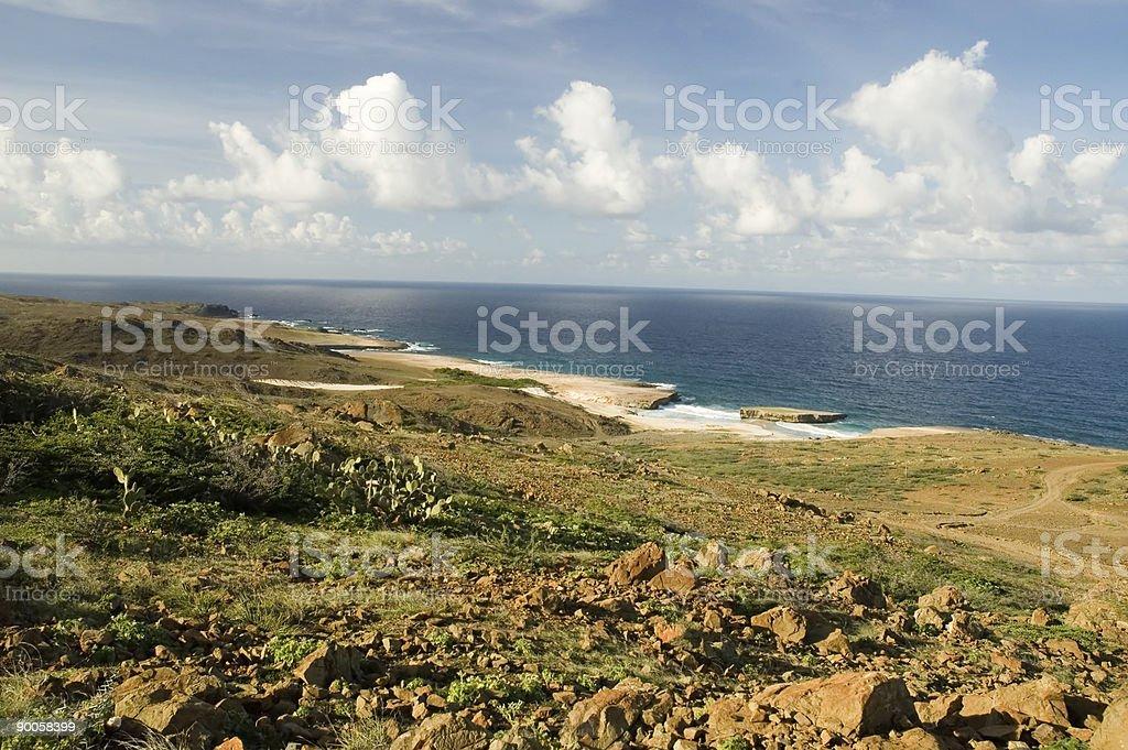 Aruba Coastline royalty-free stock photo