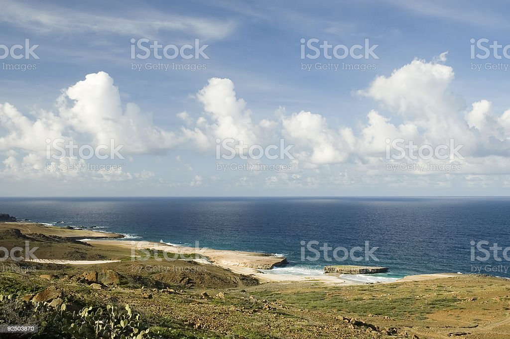 Aruba Coastline royalty-free stock photo