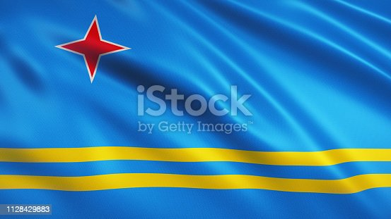 3d Render Aruba Flag (close-up)