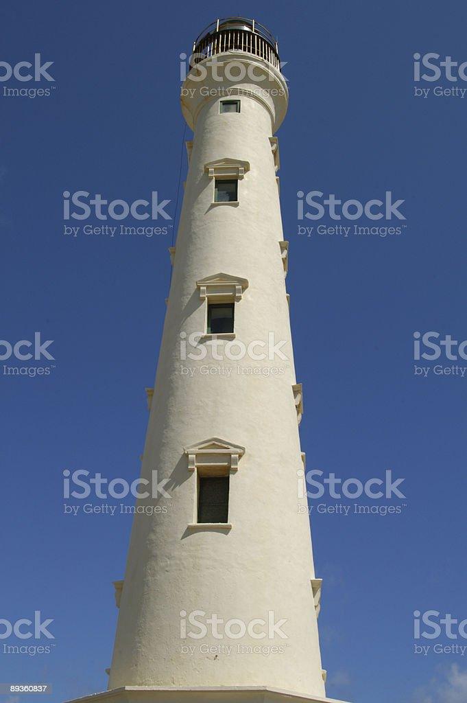 Aruba Lighthouse royaltyfri bildbanksbilder