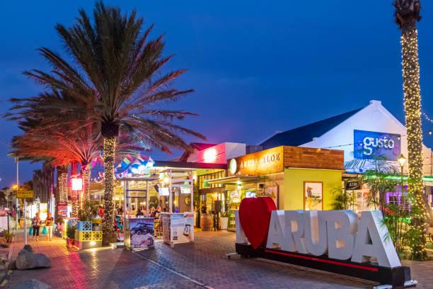Aruba, North J.E. Irausquin BLVD stock photo