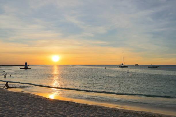 Aruba Sunset stock photo