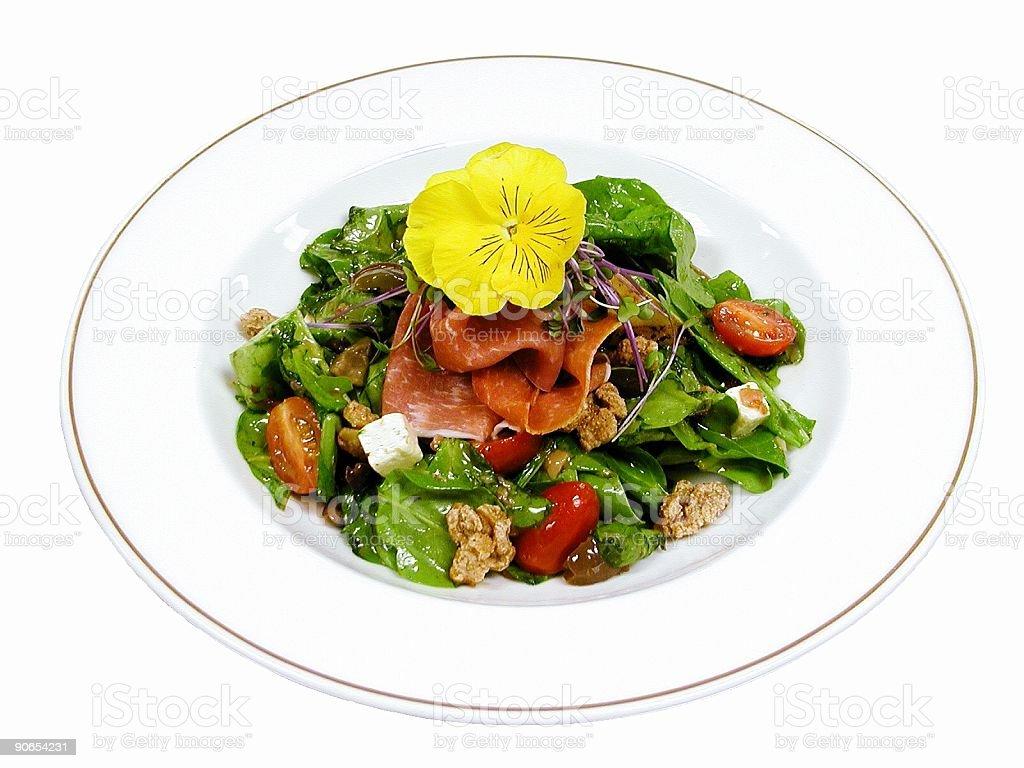 Arugula And Spinach Salad royalty-free stock photo