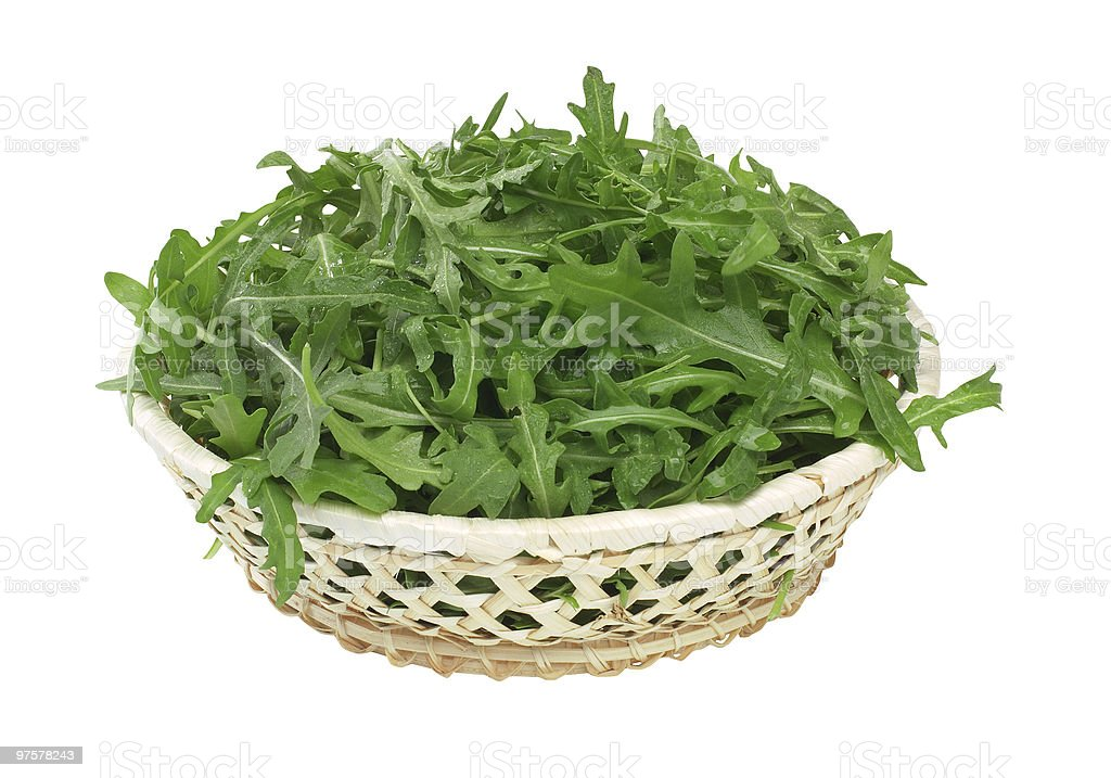 Rucola nel cestino royalty-free stock photo