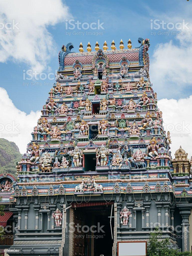Arul Mihu Navasakthi Vinayagar - Hindu Temple in Seychelles, Victoria stock photo