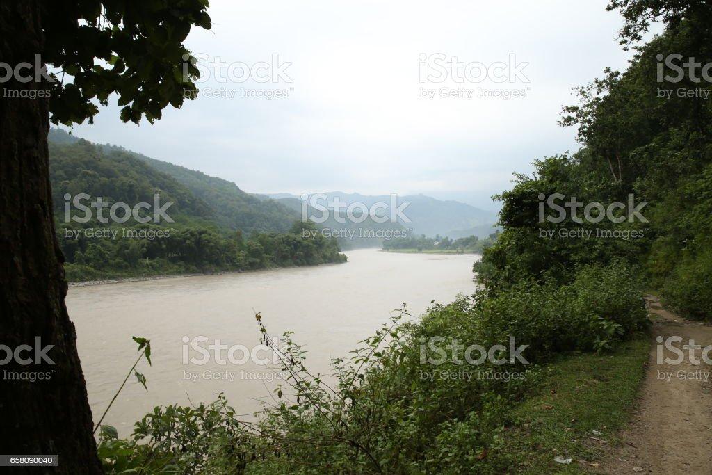 Arun River royalty-free stock photo