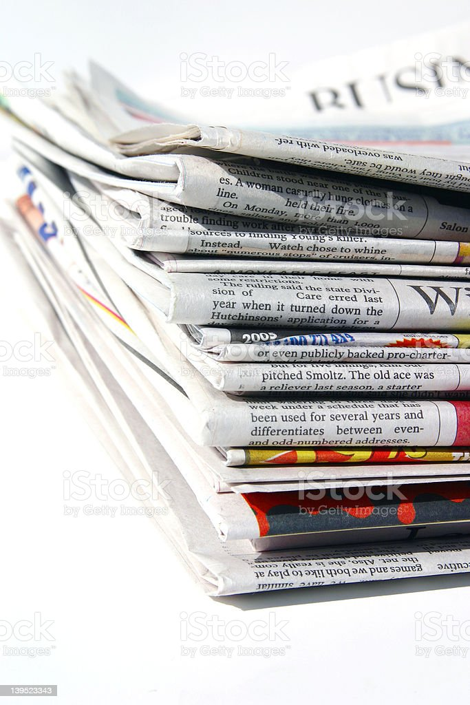 Arvada Newspapers royalty-free stock photo