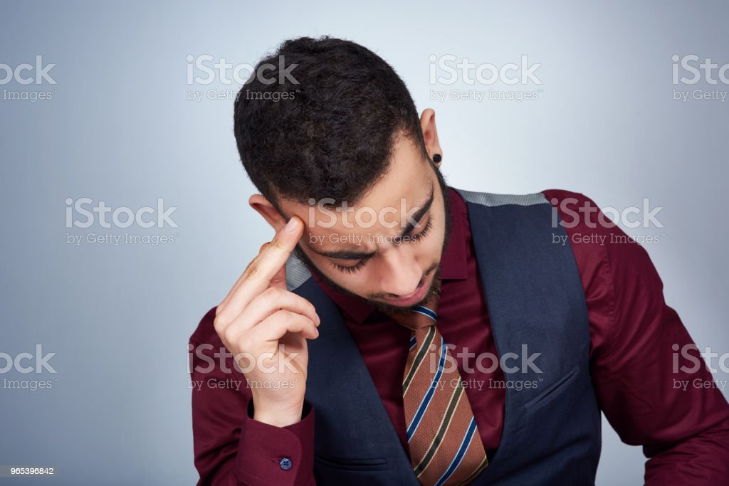 As a businessman a headache cannot stop me zbiór zdjęć royalty-free