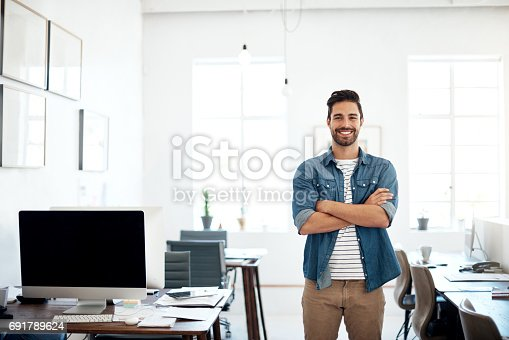 istock As a creative thinker, I'm always driving innovation forward 691789624