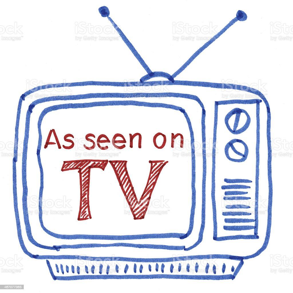 As seen on tv stock photo