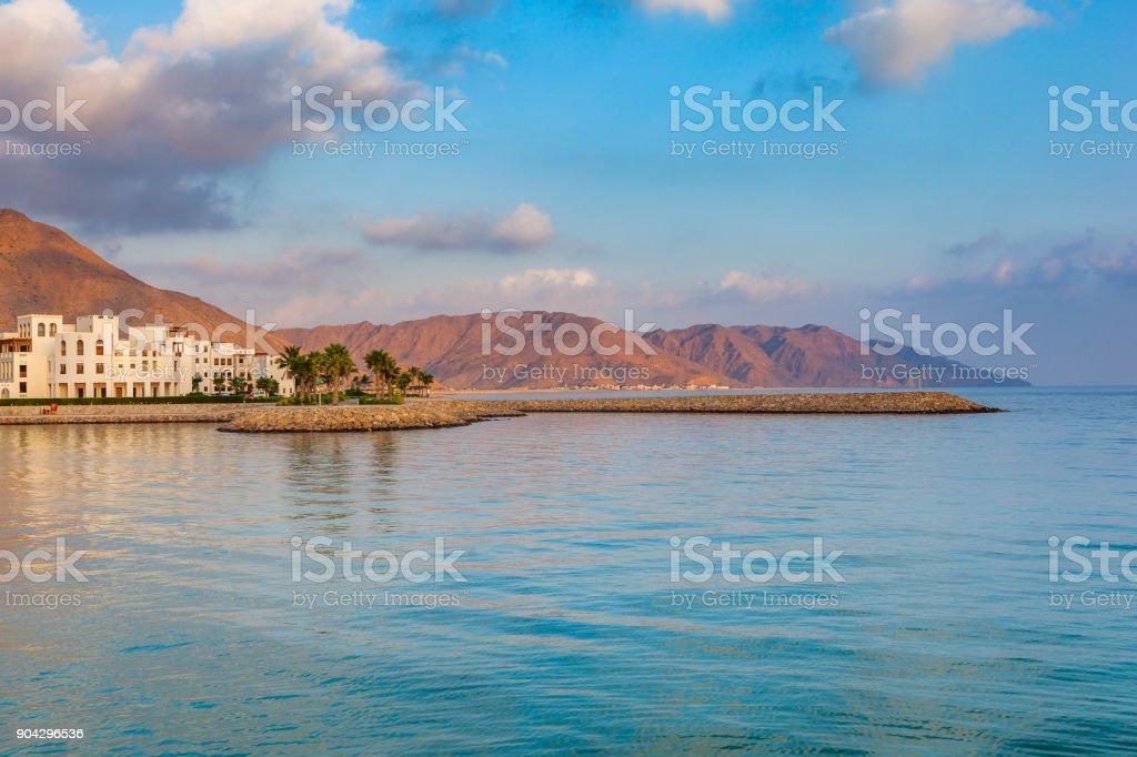 as sifah coastline, oman stock photo
