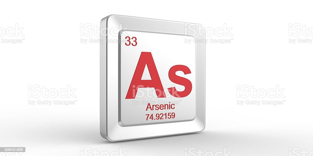 Periodic Table what family does arsenic belong to on the periodic table : As Symbol 33 Material For Arsenic Chemical Element stock photo ...
