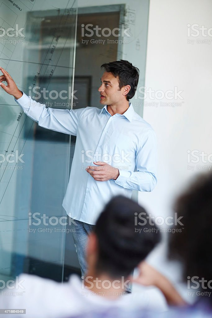 As you can see from the following projections... royalty-free stock photo
