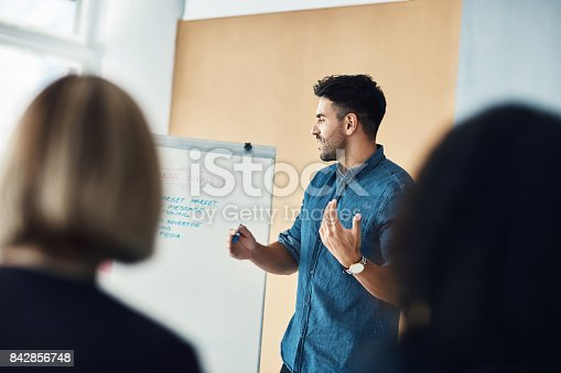 istock As you can see, we're right on track 842856748