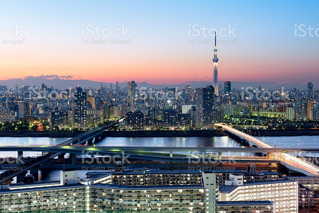 Asakus Skyline, Tokyo - Japan stock photo