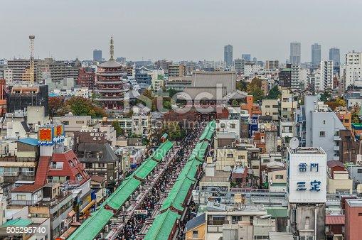 464620985 istock photo Asakusa district with famous Sensoji Temple - Tokyo 505295740