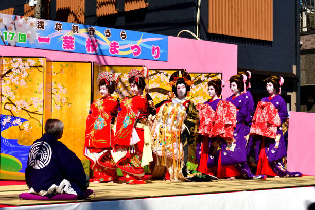 Asakusa Oiran Dochu (Parade): Parade und Bühnenaufführung in Tokio – Foto