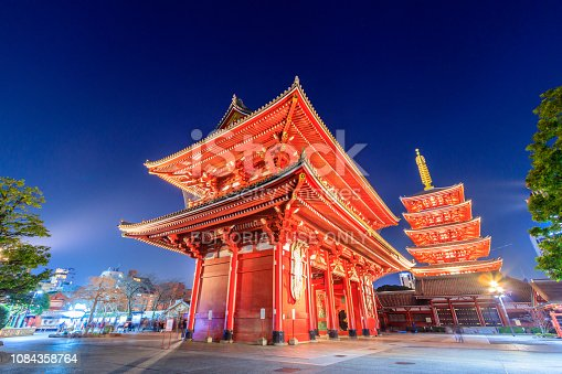 669538004 istock photo Asakusa Sensoji Temple in Tokyo Japan 1084358764