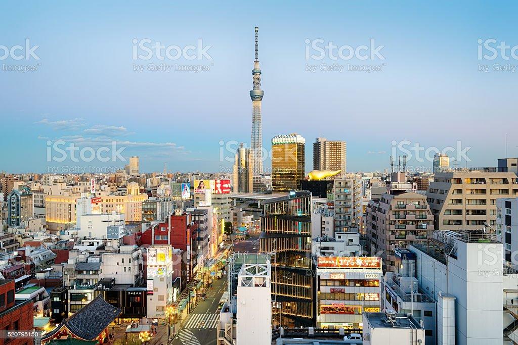 Asakusa Skyline, Tokyo - Japan stock photo