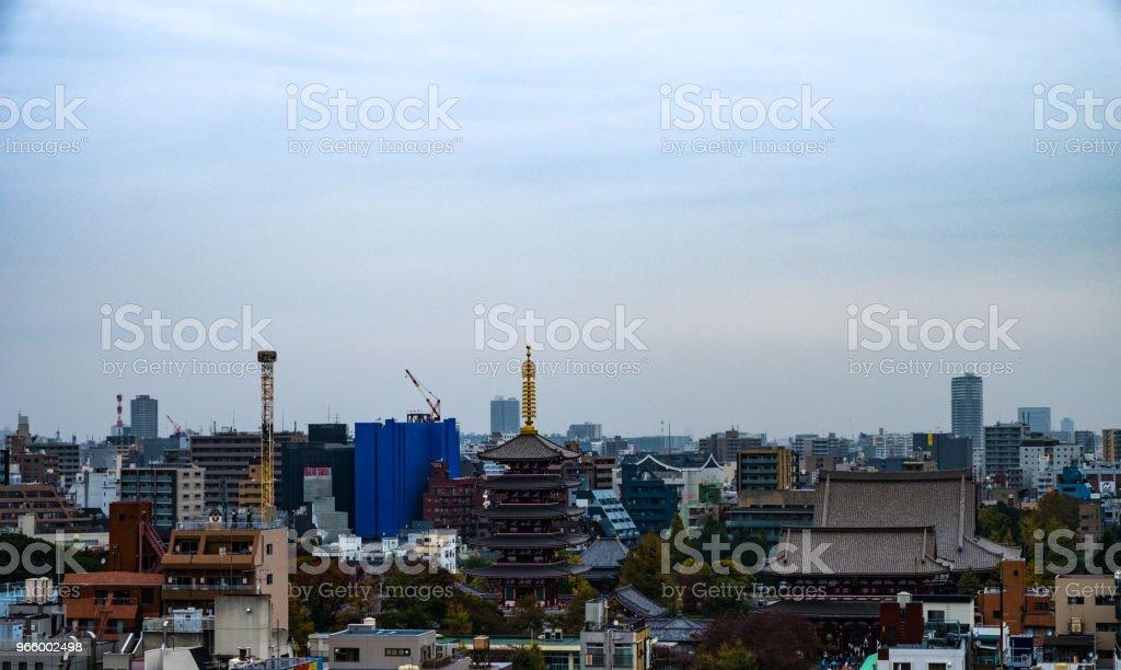Skyline von Asakusa: Tokio, Japan. - Lizenzfrei Architektur Stock-Foto