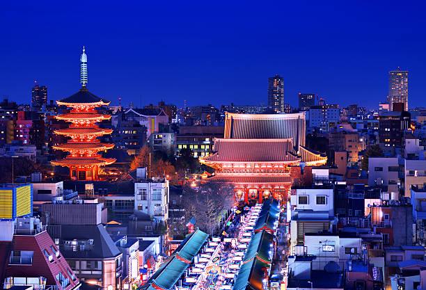 浅草東京 - 寺院 ストックフォトと画像