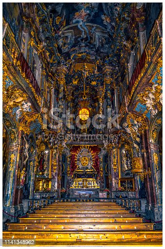St. Johann Nepomuk, better known as the Asam Church, is a Baroque church in Munich, southern Germany, built from 1733 to 1746 by the brothers, sculptor Egid Quirin Asam, and painter Cosmas Damian Asam as their private church.