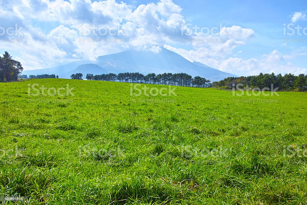 Asama ranch of Kita-karuizawa stock photo