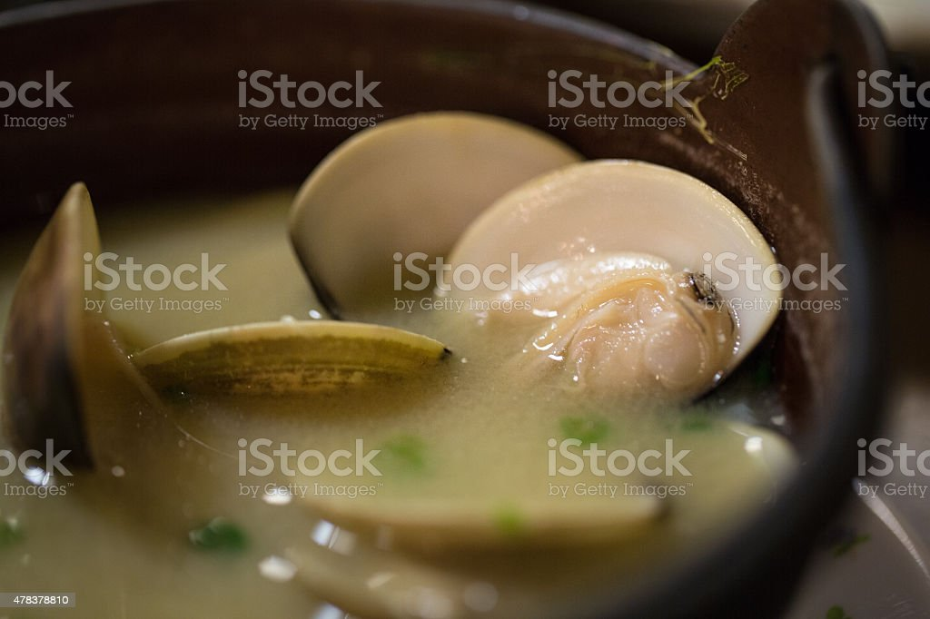 Asari sopa Miso - foto de stock